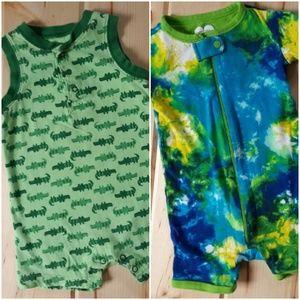 Summer Shorts Jumper Bundle Tie Dye & Crocodiles